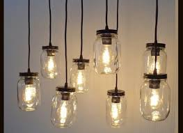 mason jar 8 light pendant chandelier new quart clear the