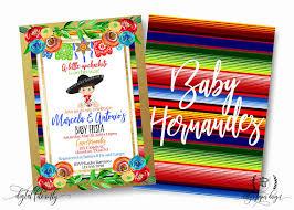 fiesta baby shower invitation mexican invite with regard to invitations ideas 23