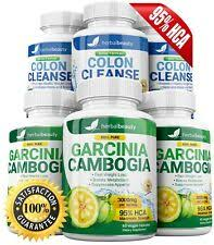 3 garcinia cambogia 3 colon cleanse 95 hca 3000mg weight loss herbal beauty