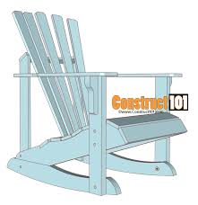 adirondack rocking chair plans. Delighful Chair Adirondack Rocking Chair Plans Inside 0