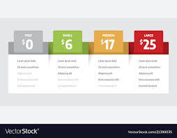 Pricing Template For Services Web Pricing Table Template For Business Plan