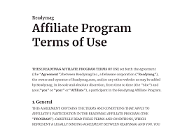 affiliate program terms of use from terms privacy by readymag team readymag