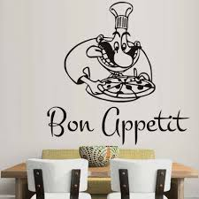 high quality bon appetit chef with pizza vinyl wall stickers quotes scheme bon appetit wall on wall art stickers quotes next with 31 best of next wall art stickers home art site