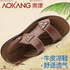 aokang sandals men summer sandals open toe mens casual sandals sandals beach shoes mens leather sandals tide 529613476985