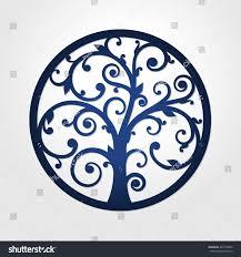 Round Framed Tree Vector Circle Laser Stock Vector 447590602 ...