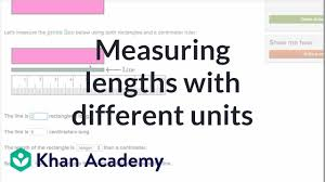 Measuring Lengths With Different Units Measurement And Data Early Math Khan Academy