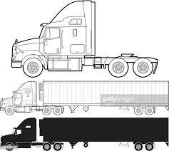 60点の大型トレーラーのイラスト素材クリップアート素材マンガ素材