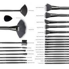 start makers 32 1 piece makeup brushes set with luxury leather pouch blender sponge