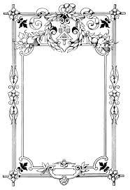 black vintage frame design. Ornate Vintage Frame ~ Free Clip Art Black Design G