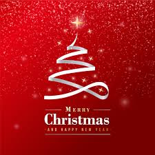 Merry Christmas Banner Print Beautiful Merry Christmas Banner With Silver Ribbon Vector Free