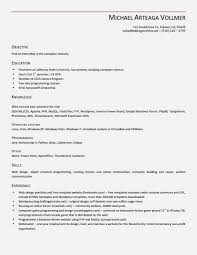 Resume Template Download Open Office Free Resume Template For