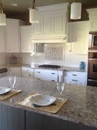 beautiful kitchen with white subway tiles as a backsplash glass accent tile kitchen backsplash
