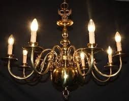 vintage flemish brass chandelier 8 arm ceiling light ref gag10