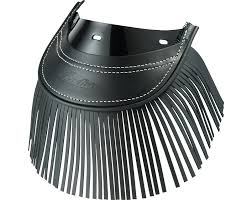 Genuine Leather <b>Rear Mud Flap</b> With Fringe - <b>Black</b> | Indian ...