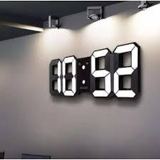 <b>3D LED</b> Wall Clock Modern <b>Digital</b> Alarm Clocks Display Home ...