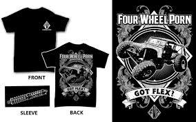 Auto Tshirt Design Masculine Bold Automotive T Shirt Design For Fourwheelporn