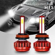 2pcs H11 Car Led 8000lm Headlight Hi Lo Beam Bulb With Driver Cooling Fan Ld1327