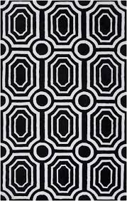 black and white geometric rug. black and white geometric hudson park rug n