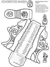 Kleurplaat Sinterklaasschoentje Kleurplatennl