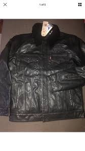 new levi s chicago bulls leather sherpa trucker jacket