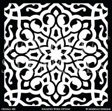 chic wall art tile stencils eastern oriental decor custom moroccan stencil free