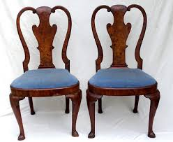 Pair of Queen Anne Chairs – The Dmytryk s Estate