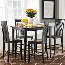 Kitchen Table Sets Black 6 Casual Edgy Style Of Square Black Kitchen Tables Amazing Home