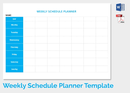 12 Weekly Schedule Templates Doc Pdf Free Premium Templates