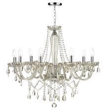 raphael 8 light chandelier champagne crystal
