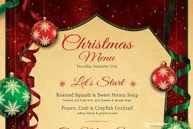 card christmas menu card template printable christmas menu card template