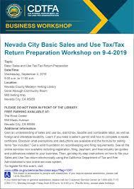 9 Sales Tax Chart California Nevada City Basic Sales And Use Tax Tax Return Preparation