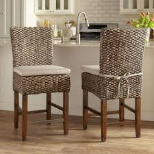 24 75 woven seagr bar stool set of 2
