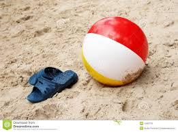 beach ball in sand. Plain Beach Summer Slippers And Beach Ball In Sand In Ball Sand L