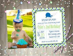 invitation card for 1st birthday boy beautiful whale birthday party invitation invite whale 1st birthday