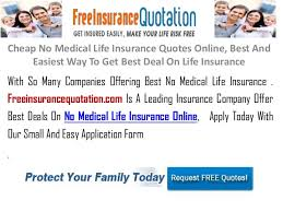 Online Insurance Quotes Delectable Cheap No Medical Life Insurance Quotes Online Best And Easiest Way T