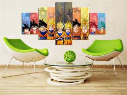 Dragon Ball Z Decorations 60 Pieces Cartoon Dragon Ball Z Goku Evolution Modern Home Wall 55
