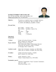 Best Ideas of Sample Resume For Filipino Nurses Also Form