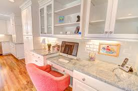 home office in kitchen
