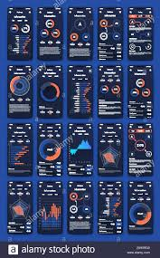 Advertising Charts And Graphs Modern Infographic Vector Elements For Business Brochures