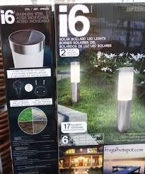 costco i6 solar bollard led lights 2 pack 16 99 frugal hotspot
