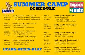 Summer Camp Weekly Schedule Summer Camp Bricks 4 Kidz Florida South West Orlando
