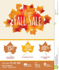 Fall Sale Flyer Template Stock Vector Illustration Of