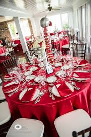 red and silver table decorations. Table Setting Red And Silver Decorations N