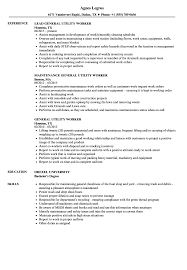 Best Utility Worker Resume Photos - Simple resume Office Templates .