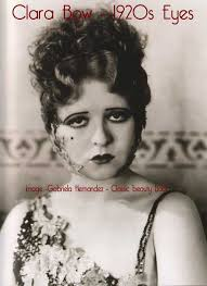 clara bow 1920s eye makeup look