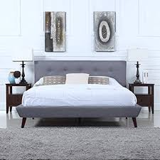 APgfstCYML SX Mid Century King Bed Frame Simple Canopy Bed Frame ...