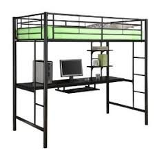 metal bunk bed with desk underneath. This Contemporary Loft Bunk Bed Metal With Desk Underneath B