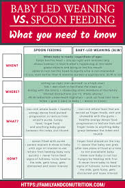 Weaning Chart Baby Led Weaning Or Spoon Feeding Baby What You Need To Know