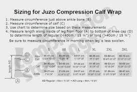Juzo Calf Wrap Size Chart Juzo Compression Wrap Size Chart Best Picture Of Chart