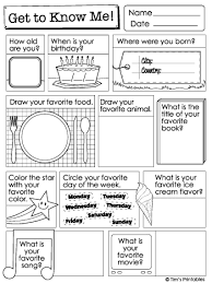 All About Me Worksheets Pdf Printable Get To Know Me Questions Worksheets List Pdf Packet